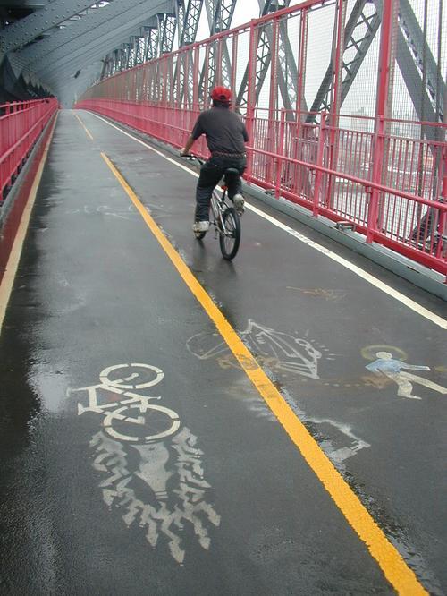 Williamsburg Bridge, southside path